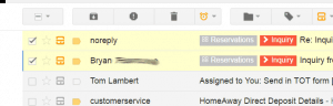 Inbox items are labelled with pipeline and stage
